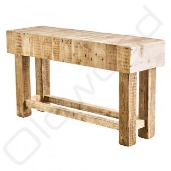 Stoere Sidetable ´Bordeaux´ gemaakt van oud balkenhout