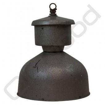 Industriële Franse lamp van zink grijs