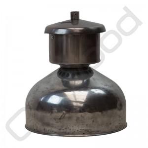 Industriële Franse lamp van zink verchroomd