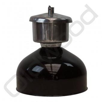 Industriële Franse lamp van zink zwart