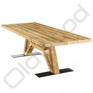 Robuuste tafel - Flying Dutchman (hout onderstel)