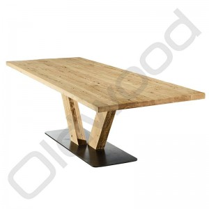 Robuuste tafel - Rome (hout onderstel)