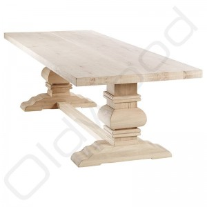 Robuuste houten tafels - Kloostertafel Parijs
