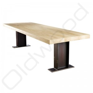 Robuuste houten tafels - Eiken tafel Fjorde